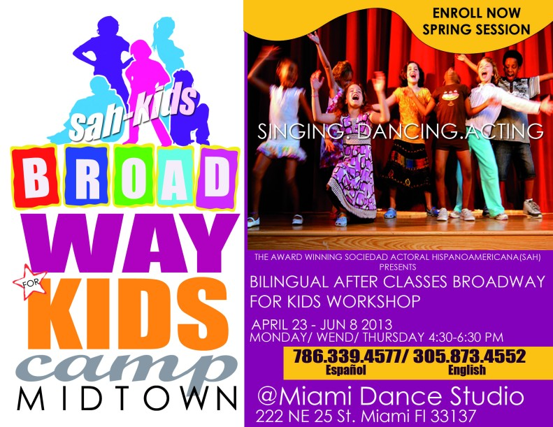 sah kids SPRING broadway camp 2013